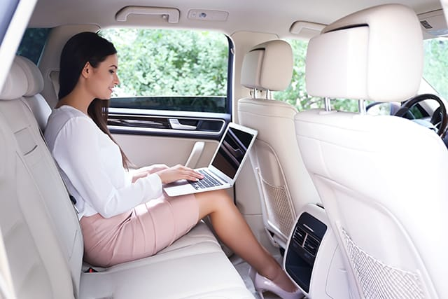 corporate transportation with wifi
