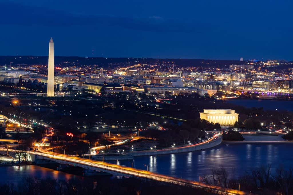 View of Washington DC - Tangier Transportation